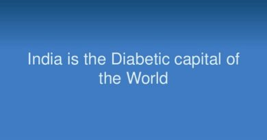 India is the diabetes capital of the world