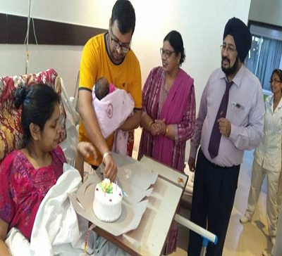 Doctors at Indian Spinal Injuries Center help eight month pregnant woman injured in a severe road accident to deliver a healthy baby