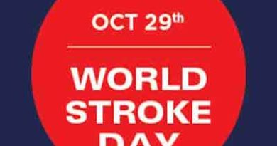 29th October 2017: World Stroke Day Understanding Stroke is the first step to ensure its prevention